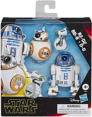 Star Wars Galaxy of Adventures R2-D2, BB-8, D-O Action Figure 3 Pack, 5' Scale Droid Toys with Fun...