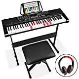 Best Choice Products 61-Key Beginners Electronic Keyboard Piano Set w/LED, Lighted Keys, 3 Teaching Modes, Headphones