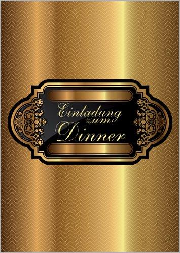 Unbekannt Im 5er Set: Edle Designer Einladungskarte zum Dinner