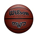 Wilson Unisex's MVP Basketball Traditional Rubber Surface for Outdoor Play, Orange, 6