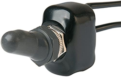 waterproof BLACK Labeled boat Marine Toggle Switch Boot