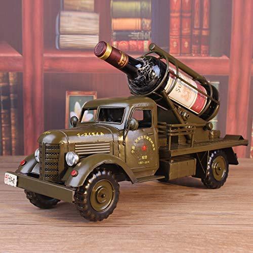 GRPBZ Pequeños Adornos Decoración del hogar Ornamento Figurine Decoración artesanía Miniaturas Large Vintage Iron Vehículo Militar Modelo de Vino Decoración Regalo | Código de Productos: LJW-2057