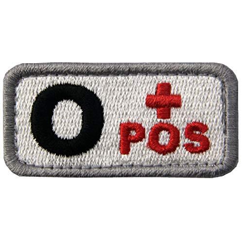 EmbTao Type O Positive Tactical Blood Type Fastener Hook&Loop Patch - Black & Red - 2x1