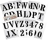 Buchstaben Schablone 10 cm hohe Alphabet Schablonen sehr große Buchstaben/Zahlen 0–9. ROMAN Großbuchstaben auf 9 Blatt 29.5 x 20 cm