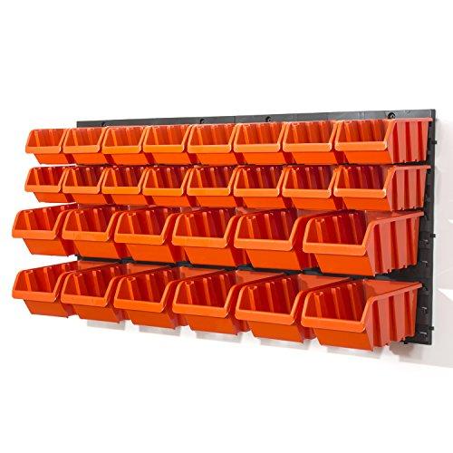 Prosperplast NTBNP1-R395 Werkzeugwand Orderline (30-TLG. Regalset, individualisierbare Werkzeugtafel 80x40x19,5 cm)