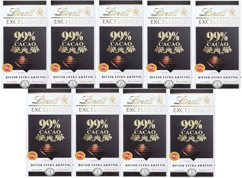Lindt & Sprüngli Excellence Bitter 99%, 9er Pack (9 x 50 g)