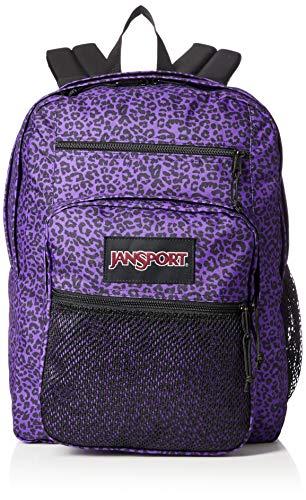 Jansport Big Campus Backpack - Lightweight 15-inch Laptop Bag, Purple Leopard Life