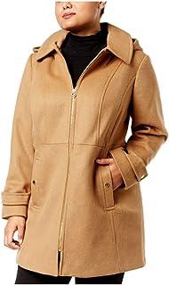 eb72eae0617f0 Michael Kors Women s Plus Size Zip-Front Walker Coat Camel 3X