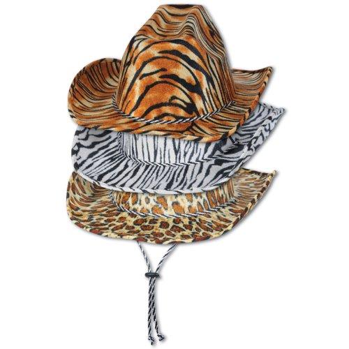 Beistle 60720-asst Animal Print Cowboy Hüte, 6Hüte Pro Paket