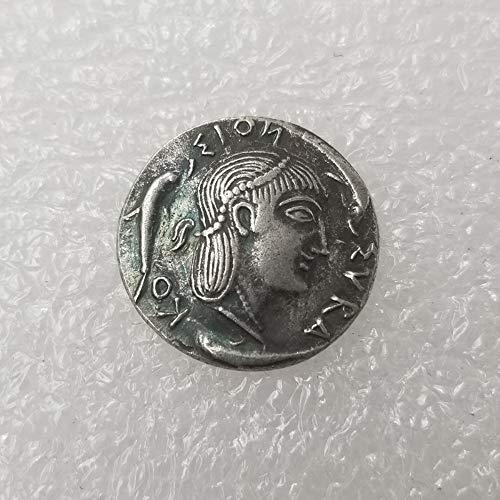 Seltene, antike, antike Athen, griechische Silbermünze, Drachm, Atena, Griechenland, Pferd, Drachma, silberfarben