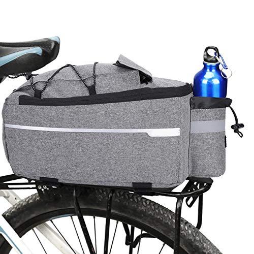 CHSDN Bolsa de Bicicleta Bolsas de Bicicleta al Aire Libre Bicicleta Ciclismo Asiento Trasero Cola Bolsa de Almacenamiento Rack Tronco Bolsa Paquete Bicicleta Accesorios de Bicicleta Bolsa de Montar