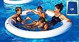 Beach Art- Amaca Galleggiante Gonfiabile Acqua Spa con Rete 190cm, Colore Bianca e Blu, 190 cm, M190
