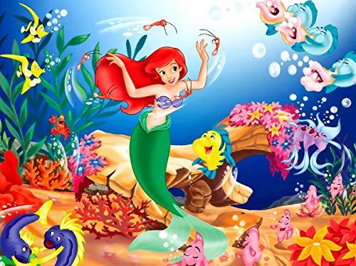 Puzzle da 300 pezzi, puzzle in legno con sirena, giochi creativi per famiglie, regali, opere d'arte educative impegnative