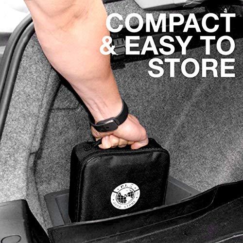 P.I. Auto Store Premium Air Compressor Tire Inflator, Portable 12V DC Electric Pump, Auto Shut Off, Digital Pressure Gauge, LED Light. New Improved Version