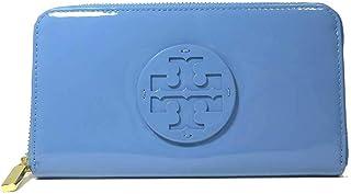 トリーバーチ TORY BURCH 財布 18169285-1017-457 パテントレザー STACKED PATENT ZIP CONTINENTAL ロゴ ラウンドファスナー 長財布 MONTEGO BLUE(457) 【アウトレット】 [並行輸入品]
