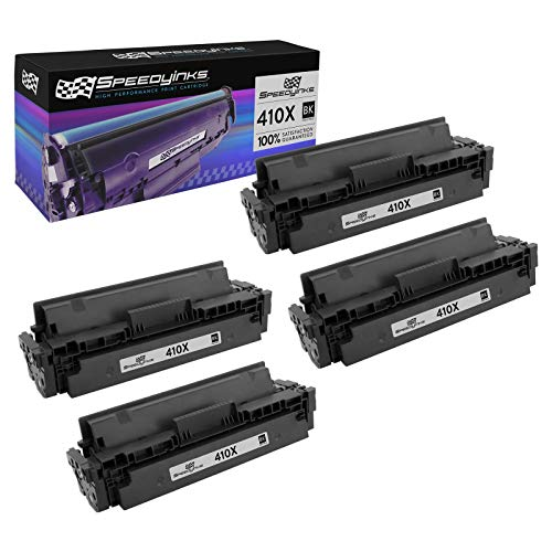 Speedy Inks Compatible Toner Cartridge Replacement for HP 410X / CF410X High Yield (Black, 4-Pack)