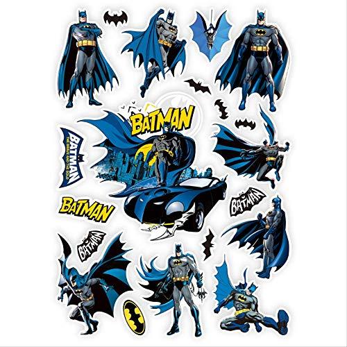 ZAQQ Batman Superhéroe Maleta Americana Teléfono Portátil Guitarra Skate Pegatina Impermeable Pegatina