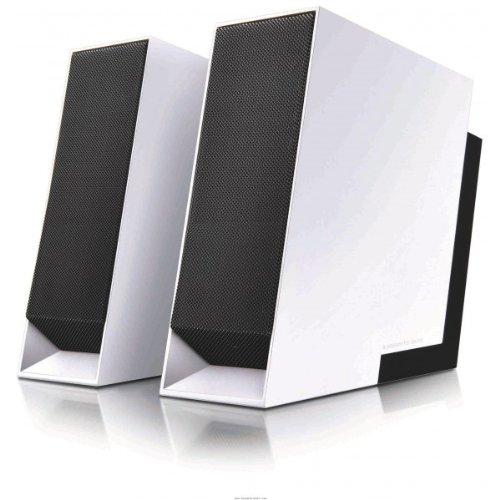 Edifier Prime USB, 2.0-So&system mit 2x 5W Satelliten, inklusive Tragetasche, weiß/schwarz