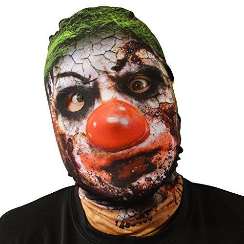gruselig Halloween Gesichtsmaske Krusty Killer Clown Design Kostüm Horror