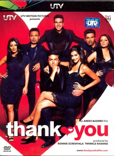 Thank You Bollywood DVD With English Subtitles