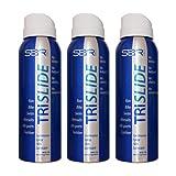 TRISLIDE Anti-irritación Anti-fricción Transparente Impermeable Spray La Piel Para Trajes De Buceo Triatlón Swimrun (3x136ml Set)