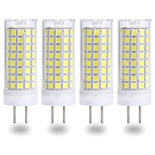 G4 Bombillas LED Regulables 10W Blanco cálido 3000k 220V Base de dos clavijas Ahorro de energía Equivalente a 80W Bombilla halógena Ahorro de energía, Paquete de 4