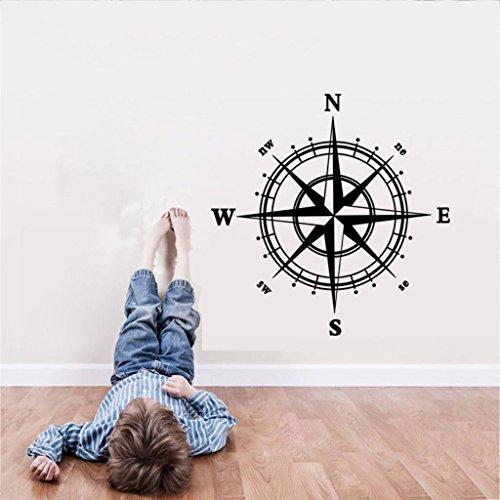 Preisvergleich Produktbild ZYCLSSRV Kompass-tapete, Wandsticker für Schlafzimmer Wohnzimmer Sofa tv Hintergrund wasserdichte herausnehmbare PVC-Wand-Sticker-A 24 * 24in