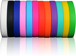 Gallop Silicone Bracelets Adult Rubber Wristbands Dozen Mixed Colors Promotional Blank Sports bands Party Favors