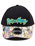 Rick and Morty Cap Sublimated Print Curved Bill Cap Black