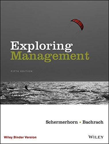 Exploring Management, 5e Binder Ready Version + WileyPLUS Learning Space Registration Card
