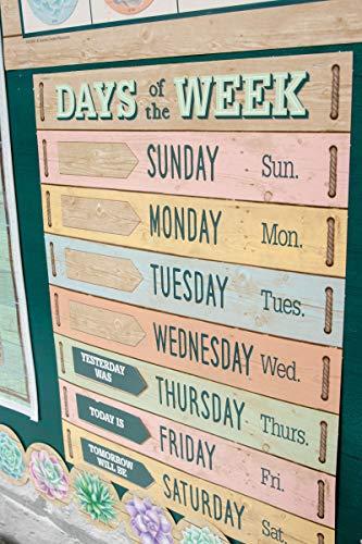 Rustic Bloom Calendar Bulletin Board Set Photo #3
