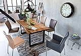 SAM Baumkantentisch Quarto 200x100 cm, Akazienholz massiv + nussbaumfarben, echte Baumkante, Esszimmertisch mit schwarz lackierten Beinen, jeder Esstisch EIN Unikat - 2