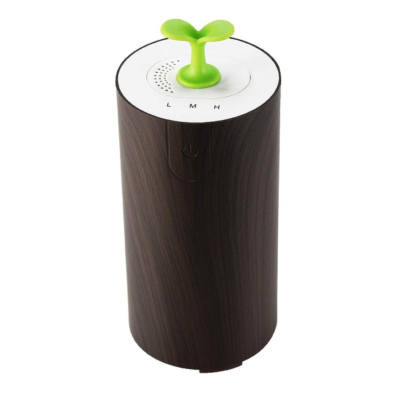 センチメートル便利スリッパ車のアロマテラピーマシン清浄機、エッセンシャルオイルディフューザー多機能USBアロマ加湿器、水なし低燃費,deepwoodgrain