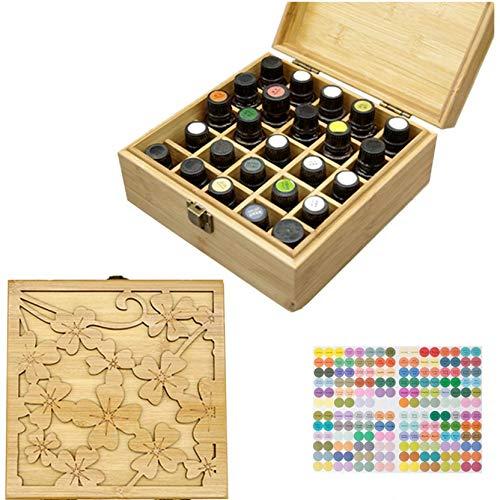 CHSEEO Caja de Almacenaje de Aceites Esenciales, 25 Botellas Aceite Contenedor Organizador Cosméticos Expositores Estantes para Esmaltes de Uñas, Perfumes, Labiales, Aceite Esencial #5
