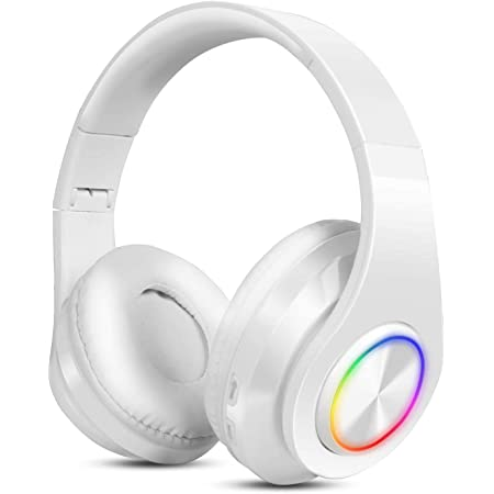 Auriculares Diadema Bluetooth, Uplayteck Fidelidad Auriculares Estéreo Inalámbricos Plegables, Auriculares Cerrados Inalámbricos Micrófono Incorporado, Micro SD/TF, FM (para iPhone/Samsung/iPad/PC)