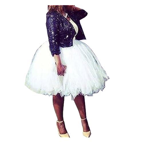 5e1867083e3 Handmade Full Puffy Ballerina Tutu Tulle Midi Knee-length Skirt Celeb  Street Style 50cm