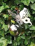 Edelstahlstele'Schmetterling' Gartenstecker Edelstahl Edelstahlskulptur Gartendeko aus Edelstahl