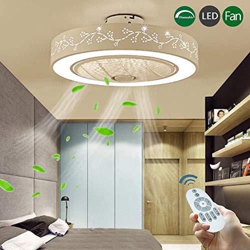 LED-Lüfterlampe Mit Fernbedienung Dimmbar Stumm Deckenventilator Ventilator Deckenleuchte Moderne Schlafzimmerlampe Beleuchtung Wohnzimmer Kindergarten Büro Kinderzimmer Deckenventilator Deckenlampe