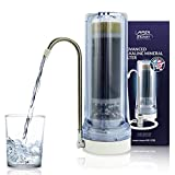 APEX Quality Countertop Drinking Water Filter - 5 Stage Mineral Cartridge - Best Alkaline Filtration System - Recommended for Healthier Safer Purified Water (Clear)