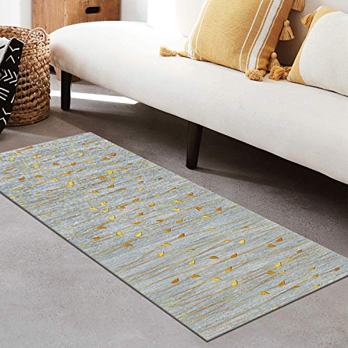 QIANGZI Alfombra de pasillo antideslizante por metros, de poliéster negro, no se decolora, para cocina, para dormitorio, pasillo y pasillo (tamaño: 120 x 450 cm, color: uno)