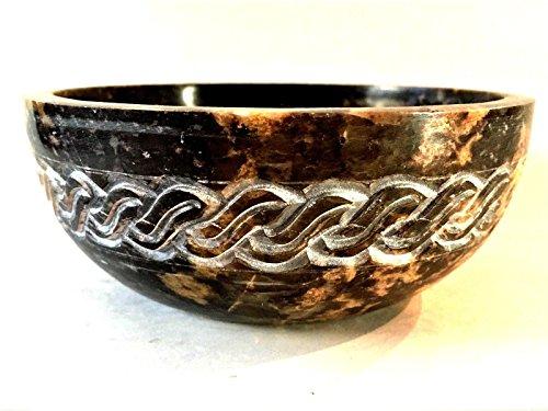 Soapstone Incense Burner Bowl/Smudge Pot/Wicca Ritual Offering Bowl Celtic Knot 2' H x 5' D SBR62
