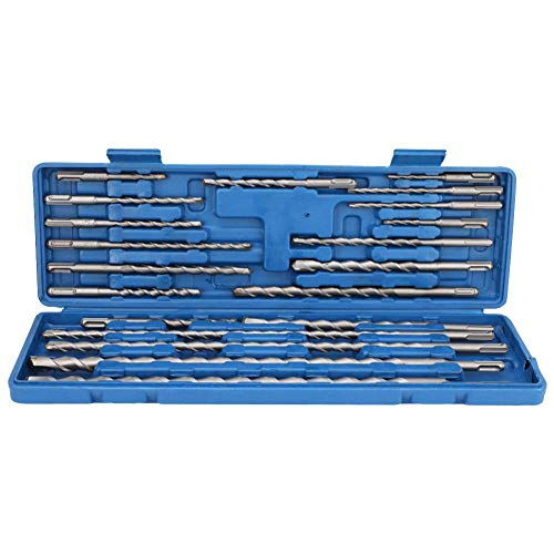 Rotary Hammer Drill Bits Set & Chisels- SDS PLUS Concrete Masonry Hole Tool 20pcs with Storage Case