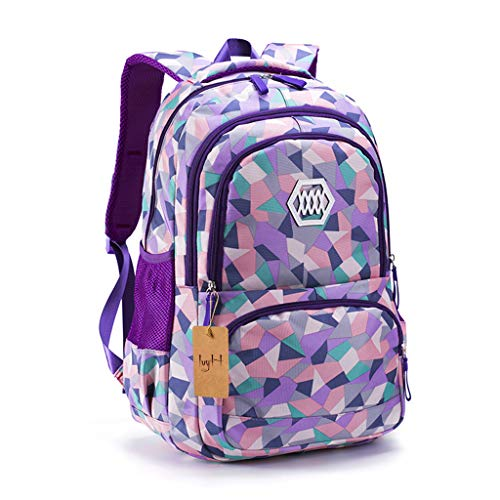 IvyH Zaino per ragazze,Zaino per le scuole per bambini Zaino per bambini Ideale per 1-6 studenti delle scuole elementari Outdoor Daypack Borsa da viaggio per adulti