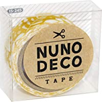 〈UVクラフトレジン〉 (KA15-245) ヌノデコテープ 【北欧の朝】 幅1.5cm 布デコ 名前テープ ハンドメイド 手芸 ネーム 布製 布マスキングテープ NUNO DECO TAPE