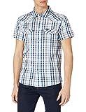 Wrangler Western Shirt Camisa, Azul cerúleo, M para Hombre