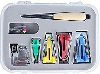 yiteng バイアス テープメーカー 家庭用ミシン アタッチメント 手芸 縫製 箱付き 7点セット