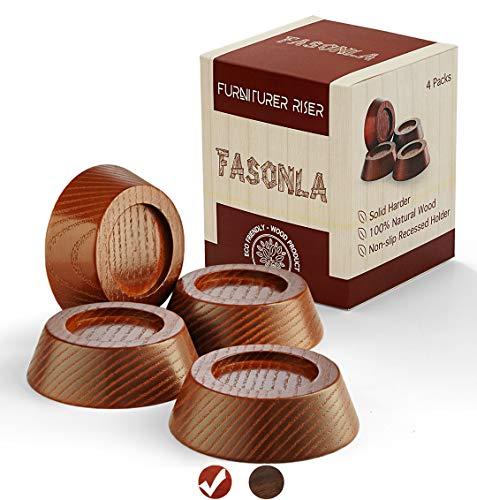 Buy Cheap FASONLA Furniture Risers, Solid Natural Wood Risers for 4 Bed Risers, Furniture Risers, Ta...