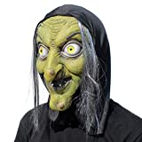 PartyHop - Vieja Bruja Máscara - Halloween Scary Horror Cosplay Costume