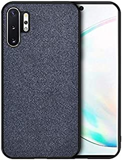 QFH For Galaxy Note 10 Pro/Note 10+ Shockproof Cloth Texture PC + TPU Protective Case new style phone case (Color : Blue)