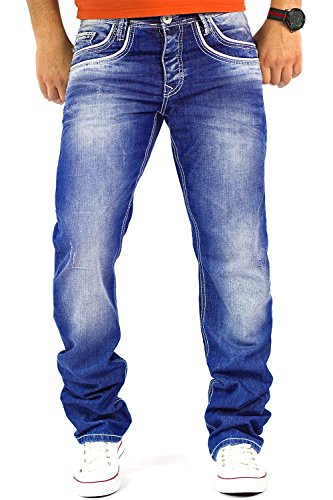 Cipo & Baxx Herren Jeans Modell-14 Freizeit-Hose Clubwear Biker Style Top Denim,31W / 32L